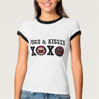 Pugs & Kisses XOXO White Tee Shirt