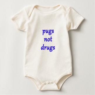 pugs not drugs baby bodysuit