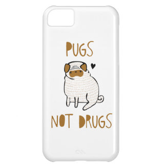 Pugs Not Drugs Case For iPhone 5C