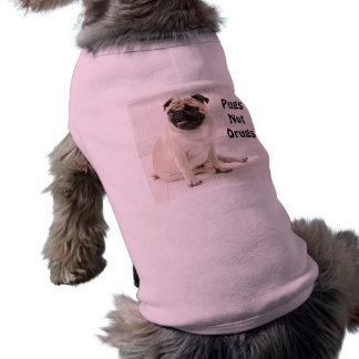 Pugs Not Drugs Doggie Ribbed Tank Shirt