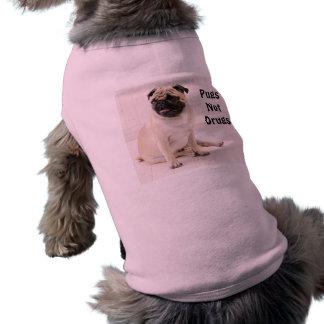 Pugs Not Drugs Doggie Ribbed Tank Shirt