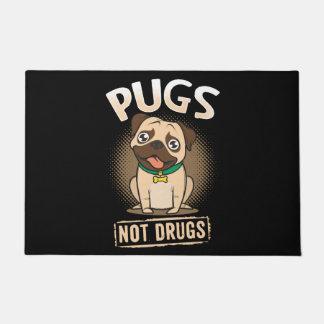 Pugs not Drugs Doormat