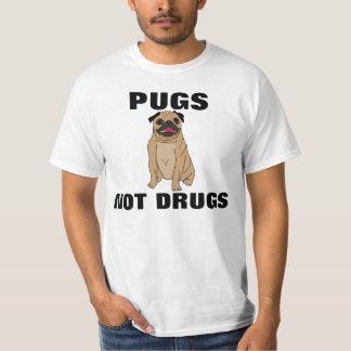 PUGS NOT DRUGS, funny dog t-shirts & hoodies