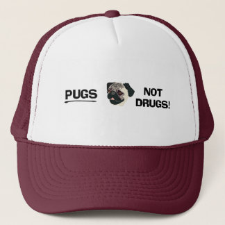 Pugs Not Drugs Hat