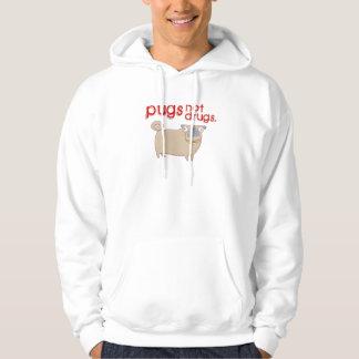 Pugs not drugs hoodie / hooded sweatshirt