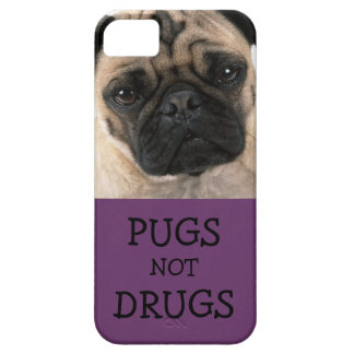 Pugs Not Drugs Purple iPhone 5 Case