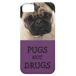 Pugs Not Drugs Purple iPhone 5/5S Cover