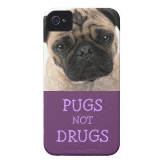 Pugs Not Drugs Purple Case (Tonal) iPhone 4 Cover