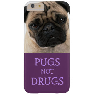 Pugs Not Drugs Purple Case (Tonal) Barely There iPhone 6 Plus Case