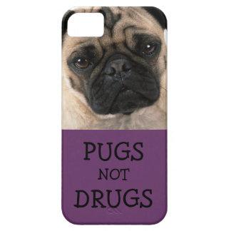Pugs Not Drugs Purple iPhone 5 Cases