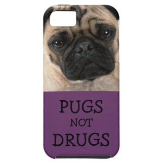Pugs Not Drugs Purple Vibe iPhone 5 Cases