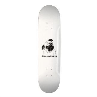 Pugs Not Drugs Skate Board Deck
