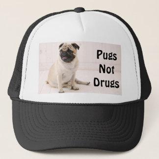 Pugs Not Drugs Trucker Hat