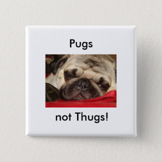 Pugs not Thugs! pin