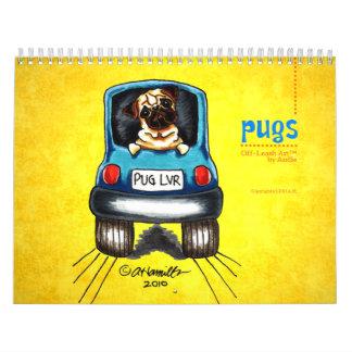 Pugs Off-Leash Art™ Vol 1 Calendars
