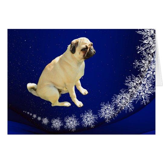 Pugs on Earth Christmas Card