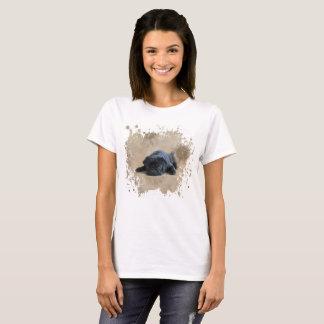 Pugs: Sunflower Black Pug Lover Dog T-Shirt