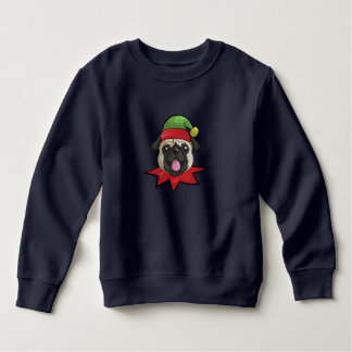 Pugs Sweatshirt Funny Elf Christmas Gift Shirt