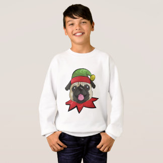 Pugs T-Shirt Funny Elf Christmas Gift Shirt