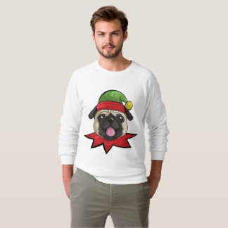 Pugs T-Shirt Funny Elf Christmas Gift Shirt
