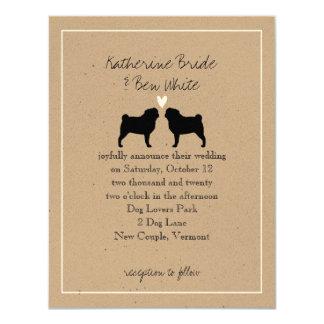 Pugs Wedding Invitation