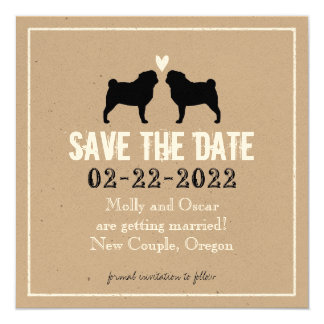 Pugs Wedding Save the Date Card