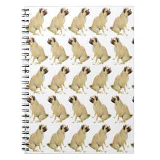 Pugs White Notebook