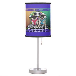 Pugsgiving Mardi Gras 2015 - Moose & Maggie - Pugs Table Lamps