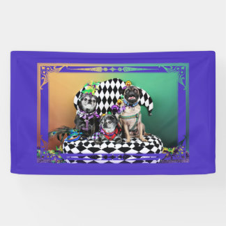 Pugsgiving Mardi Gras 2015 - Wendy Madison Nelson Banner