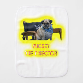 Pugsley The Director Burp Cloth