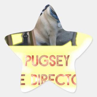 Pugsley The Director Star Sticker