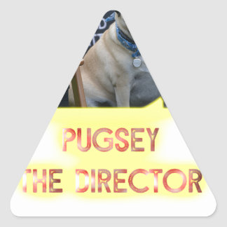 Pugsley The Director Triangle Sticker