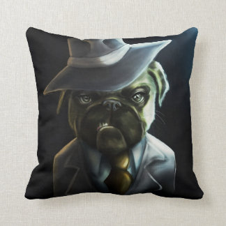 Pugster Boss Throw Pillow