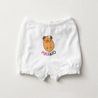 Pugtato (pug potato) diaper cover