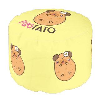 Pugtato Pug Potato Pouf