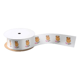 Pugtato Pug Potato Satin Ribbon