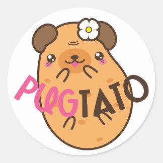 Pugtato (pug & potato) Stickers