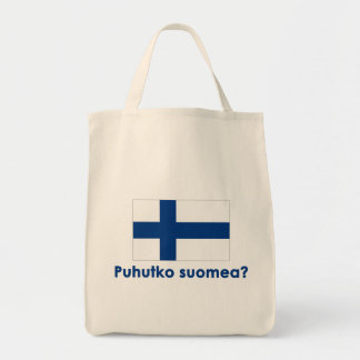 Puhutko Suomea? (Speak Finnish?) Tote Bag