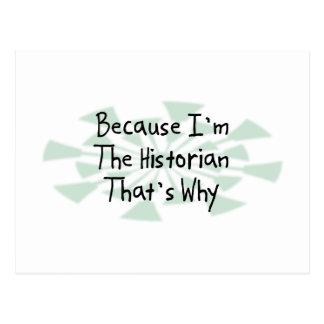 Puisque je suis l'historien cartes postales
