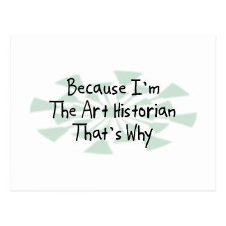 Puisque je suis l'historien d'art cartes postales