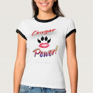"""""""Puissance de puma !"""" Chemise de Pawprint de rouge Tee-shirts"""