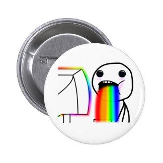 Pukes Rainbows 2 Inch Round Button