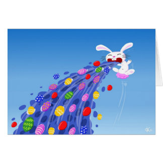 Puking Bunny Card