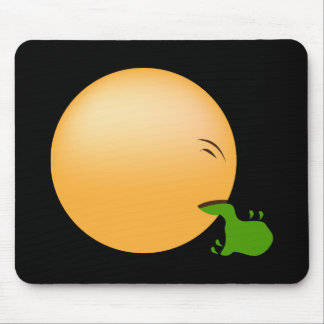 Puking Emoji Mouse Pad