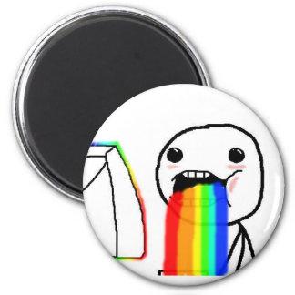 Puking rainbows Fridge Magnet