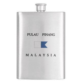 Pulau Pinang Malaysia Alpha Dive Flag Hip Flask