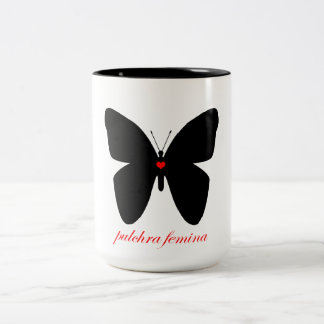 Pulchra femina - Beautiful Woman in Latin Two-Tone Coffee Mug