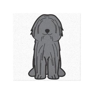Puli Dog Cartoon Canvas Print