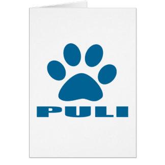 PULI DOG DESIGNS CARD