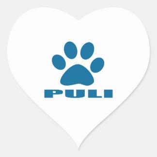 PULI DOG DESIGNS HEART STICKER
